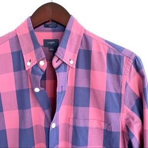 "J. Crew ""Slim Washed Shirt"" in Oversized Gingham"